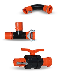 PE Clamp Fittings, Irrigation Systems Clamp Fittings